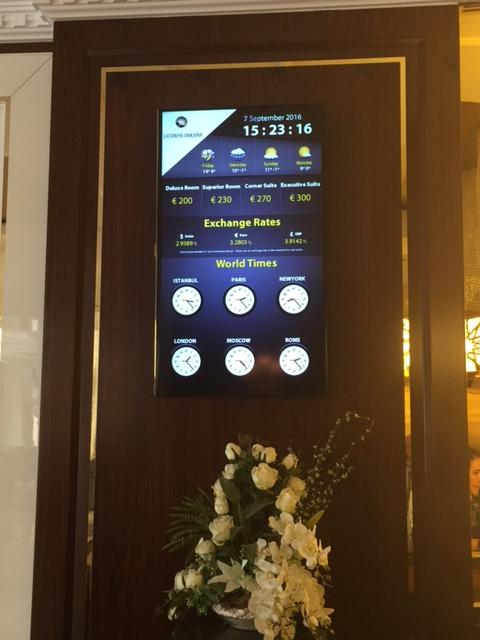 hotel döviz tabelası, fiyat tabelası