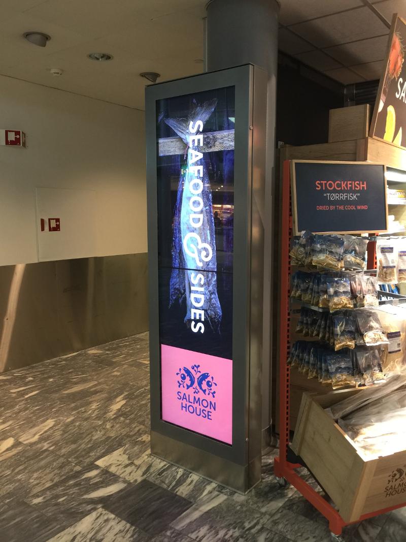 mağaza içi reklam tanıtım ekranları